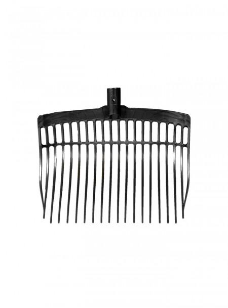 Пластикові вила для прибирання в стійлі Horze 40 см чорного кольору Фото