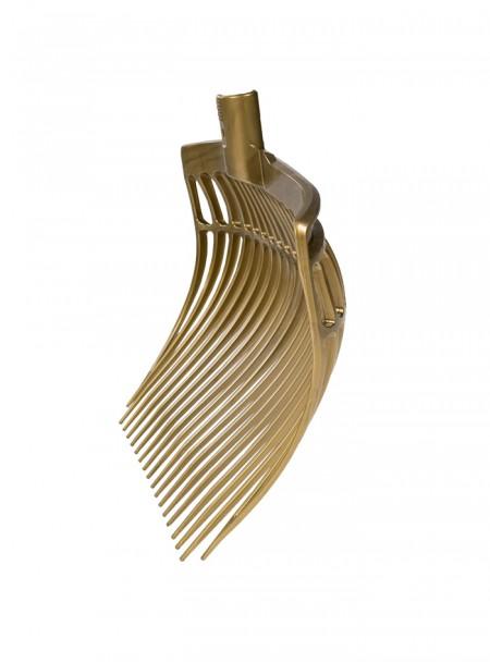 Пластикові вила для прибирання в стійлі Horze 40 см золотого кольору Фото