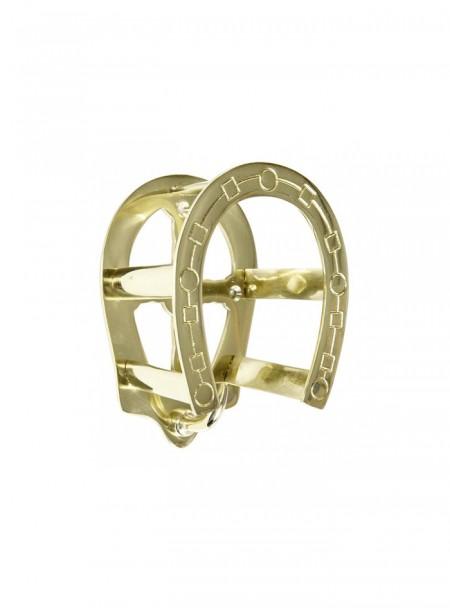 Латунієва вішалка для вуздечки (кронштейн) у вигляді підкови HKM 12 см Фото
