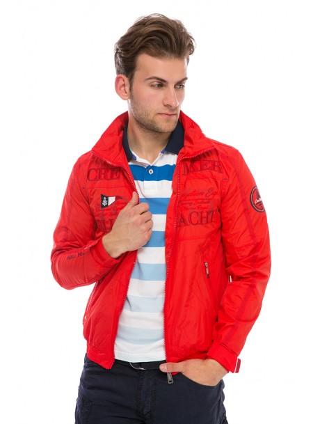 Червона чоловіча куртка Geographical Norway з 100% поліестеру Фото