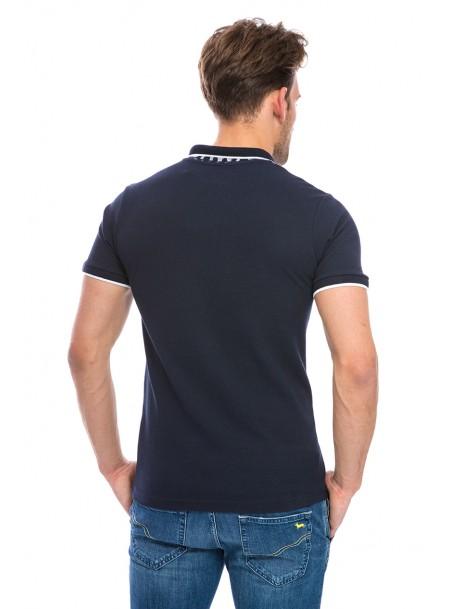 Чорна чоловіча сорочка – поло з 100% бавовни від компанії Geographical Norway Фото