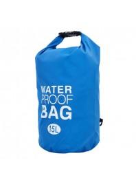 Водонепроникний гермомешок з плечовим ременем Waterproof Bag 15л