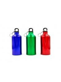 Пляшка для води алюмінієва з карабіном Фото