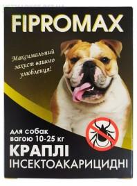 Краплі FIPROMAX д/середніх собак вагою 10-25 кг