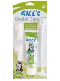 Зубна паста GILL'S м'ята + 3 щітки в наборі