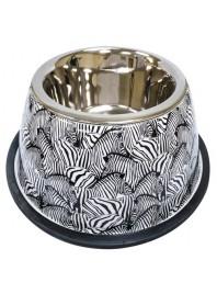 Миска CROCI Animalier Zebra, нерж. з гумовим підставою, принт